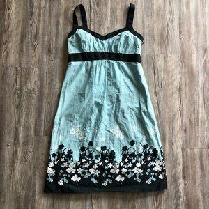 Ann Taylor Loft 2 sleeveless floral cotton dress
